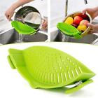 Useful Pan Strainer SNAP'N STRAIN Clip-on Silicone Pasta Draining Liquid Tool