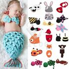 Baby Infant Animal Crochet Knit Costume Photography Prop Beanie Hat Cap Outfit