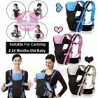 4 Position - Newborn Baby Carrier Sling Wrap Backpack Front Back Chest Ergonomic