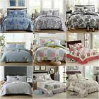 Checked Patchwork Coverlets Quilted Bedspreads Set Queen/King Size Bed Flroal
