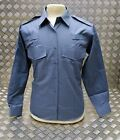 Genuine British MOD Shirt Working Dress Blue/Grey Man's/Woman's Churchill - NEW