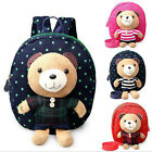 Toddler Kid Children Detachable Plush Bear Backpack School Bag Kindergarten