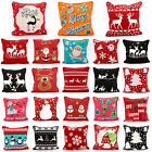 "CHRISTMAS XMAS CUSHION COVER DECORATIVE CUSHION PILLOW CASE 18 x 18"" / 45 x 45CM"