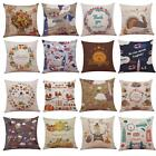 Thanksgiving Pumpkin Sofa Throw Pillow Case Home Decor Square Cushion Cover NEW