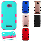 For Coolpad Defiant IMPACT TUFF HYBRID Hard Protector Case Skin Phone Cover