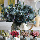 29cm Artificial Peony Silk Flowers Head Floral For Wedding Home Decor 5 Colors