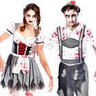 Zombie Oktoberfest Adults Fancy Dress Bavarian German Beer Festival Costumes New