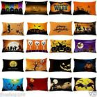 Halloween Pillow Case Cotton Linen Bed Waist Cushion Cover Pillowcase Home Decor