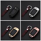 Key Cover For Chery Key Fob Pop Aluminum Metal Genuine Leather Wrap Car Key Case