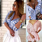 New Fashion Women Striped Summer Loose Top Long Sleeve Blouse Casual Tops TShirt