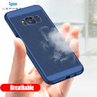 For Samsung Galaxy S8 Case Plastic Hollow Hole Breathable Glossy Hard Back Cover