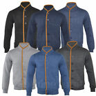 Mens Fashion Quilted Buttoned Cardigan Top Jacket S-XL