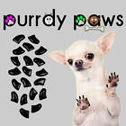 Soft Nail Caps For Dog Claws ( BLACK ) * Purrdy Paws * 7 Sizes X-Small - Jumbo