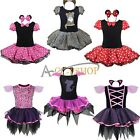 Kid Girls Halloween Leopard Polka Dots Toddler Cosplay Dress Costumes Tutu Skirt