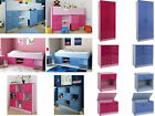 Caspian Blue or Pink Bedroom Furniture for Boys or Girls - 2 Tone Gloss Range