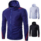 HOT Men's Hooded Jacket Baseball Clothes Thin Summer Sunscreen Coat Slim Fit GW