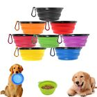 1X Pet Dog Cat Food Water Collapsible Silicone Bowl Dish Feeding Feeder GIFT
