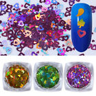 0.5g Holographic Nail Art Glitter Sequins Heart Maple Leaf Water Drop Paillettes
