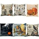 Halloween Pumpkin Cotton Linen Throw Pillow Case Cushion Cover Home Decor 2017