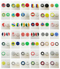40 x COLOURED ACRYLIC BUTTONS ROUND *60 STYLES* HABERDASHERY SEW FABRIC SEWING