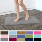 Luxurious Coral Velvet Bath Rug Memory Foam Bathroom Mats Shower Mat Non-slip