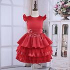 Pageant Ruffle Tiered Gown Flower Girl Dress For Bridesmaid Wedding Formal Party