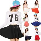 Women Bust Shorts Skirt Pants Pleated Candy Color Skirts Plus Size