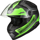 Shox Sniper Spear Full Face Motorbike Motorcycle Scooter Bike Helmet Ghostbikes