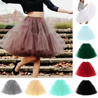 Women Retro Vintage Rockabilly Tutu Skirts 6 Layer Petticoat A-line Tulle Dress