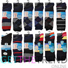 12 Pack Mens Designer Socks Fresh Feel Plain Cotton Office Footwear Lot 6-11 New