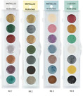 METALLIC RUB ON Paint Palettes 7 Colors Polymer Clay Paper CHOOSE COLOR SET image