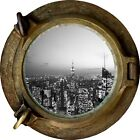 Huge 3D Porthole New York City View Wall Stickers Film Mural Decal Wallpaper 49