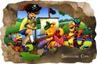 Huge 3D Smugglers Cove Pirate Cave View Wall Stickers Mural  Decal Film 40