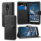 Black Premium Leather Flip Case Stand Cover For Various Nokia SmartPhones