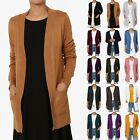 TheMogan Women's Boyfriend Relaxed Fit Open Front Pockets Knit Sweater Cardigan
