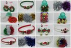Christmas Accessories Earrings,Hair Scrunchies, Alice bands,Ponios