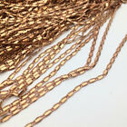 Raw Brass Square Link Chain Open Link Flat Jewelry Findings For Choker Necklace