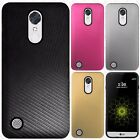 For LG K20 Plus Shockproof Lines Hybrid Impact Dual Layered Cover +Screen Guard
