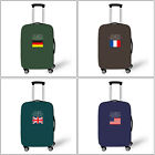"""US/UK/DE Flag Luggage Cover Elastic Luggage Protector Suitcase Cover for 18""""-28"""""""