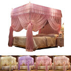 Princess 4 Corner Post Bed Canopies Mosquito Netting Single Double Queen King