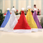 Christmas Bling Hats Santa Hat Decor Hats for Children Adults New Year Gifts