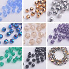 (32 Facets) 100pcs 6mm Faceted Round Glass Crystal Loose Spacer Beads NEW DIY