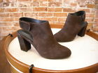 Adam Tucker Jenna Brown Suede Slingback Ankle Booties New