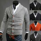 Hot Mens Boy Slim Fit V-neck Knitwear Pullover Cardigan Sweater Jacket Coat Tops