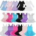 Princess Girls Ballet Dress Kid Leotard Gymnastics Dancers Wear Fancy Tutu Skirt