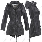 NEW RAIN MAC Ladies PARKA Showerproof Womens Outdoor RAINCOAT Size 8 10 12 14 16