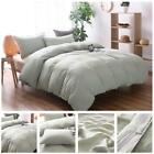 Cotton 3 Piece Bed Quilt Set Solid Colour bedclothes Pillow Case Coverlet Beddin