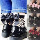 New Woman Ruffle Fishnet Ankle High Mesh Lace Fish Net Short Socks with Bow US