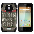 For Alcatel One Touch Elevate 5017B Dual Layer Case Stand Camo Designs Black