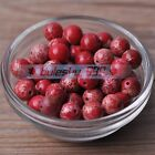 4~10mm Round Natural Red Chrismatite Gemstone Stone Loose Spacer Beads